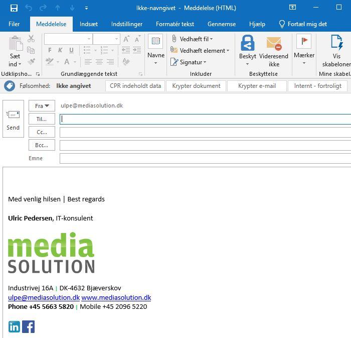 Nem kryptering af e-mails i Office 365